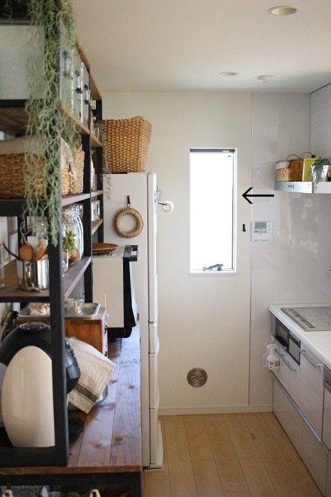原状回復可能diy キッチンの窓に窓枠を付けました キッチン Diy