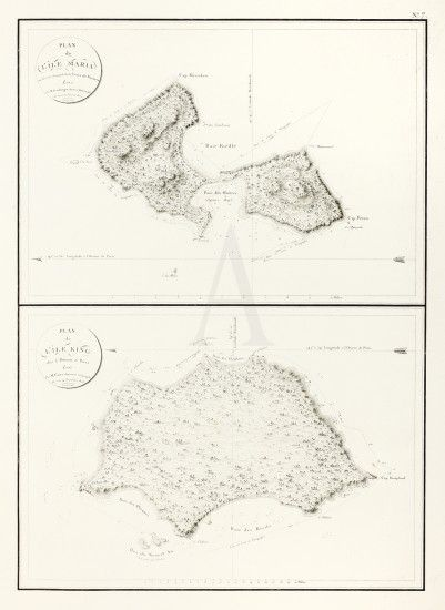 Plan De L Ile Maria Plan Ile King Antique Print Map Room History Images Rare Books Botanical Illustration