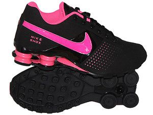 NIKE SHOX DELIVER SIZE 6Y / 7.5 WOMEN'S - BLACK PINK FLASH RUNNING | Shoes  | Pinterest | Nike shox, Running and Black