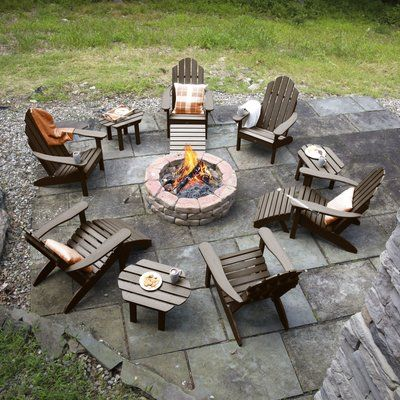 Bay Isle Home Nelsonville 12 Piece Multiple Chairs Seating Group Color: Charleston Outdoor Seating, Outdoor Spaces, Outdoor Living, Outdoor Decor, Fire Pit Seating, Backyard Patio Designs, Backyard Landscaping, Fire Pit Landscaping Ideas, Backyard Ideas