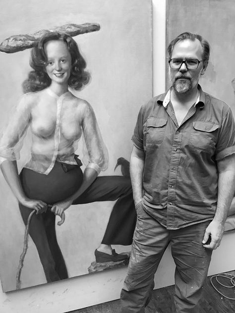 John Currin in Conversation with Brett Littman Lecture Date Tue, December 2019 - New York Studio School 8 W St, New York, NY 10011