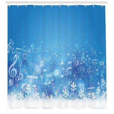 East Urban Home Winter Shower Curtain Set Hooks Winter Shower Vinyl Shower Curtains Shower Curtain Sets