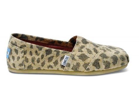 Leopard Burlap Women's Classics | TOMS.com #toms