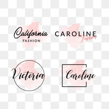 Feminine Fashion Logo Design Logo Feminine Set Png And Vector With Transparent Background For Free Download 2020