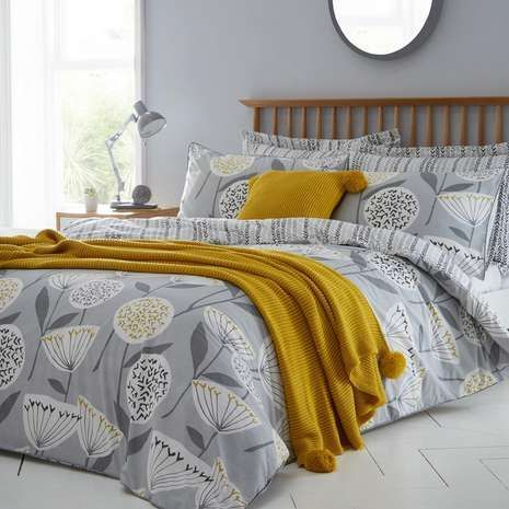 Emmott Grey Bed Linen Collection Dunelm Linencloset Grey Bedding Grey Linen Bedding Luxury Bedding