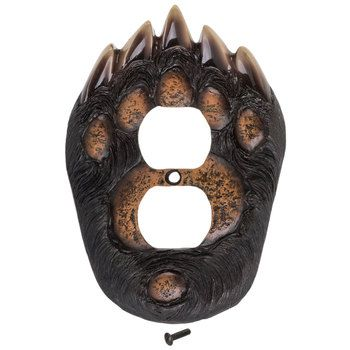 Bear Paw Outlet Cover Hobby Lobby 1450311 Outlet Covers Bear Paws Big Bear Cabin