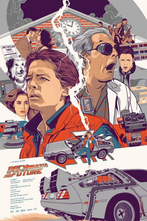 BACK TO THE FUTURE Tribute Art by Vincent Rhafael Aseo — GeekTyrant