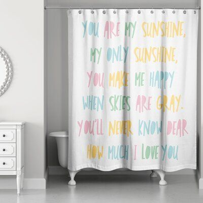 Isabelle Max Traci You Are My Sunshine Shower Curtain In 2020