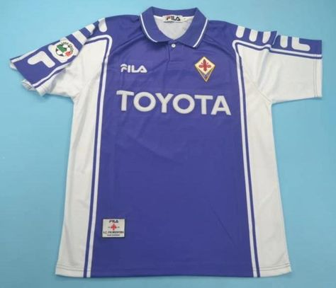 AC Fiorentina retro soccer jersey 1999-2000 | Soccer jersey, Jersey ...