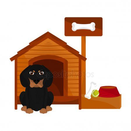 Dog House With A Cute Dog Cartoon Stock Vector Sponsored