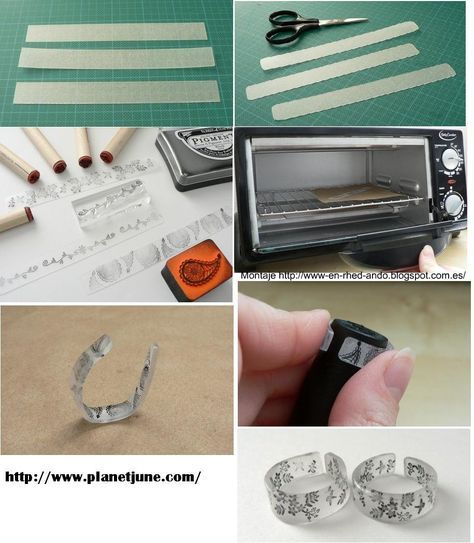 Como Hacer Anillos Sortijas De Plasticos Transparentes Manualidades Haciendo Anillos Manualidades De Plastico