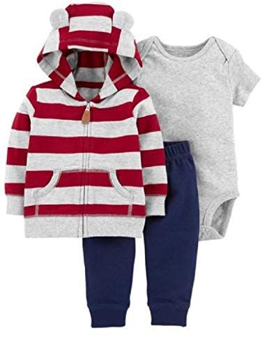 Carter S Baby Boys 3 Piece Little Jacket Set 12 Months Red Stripes Baby Girl Pants Carters Baby Boys Baby Boy Outfits