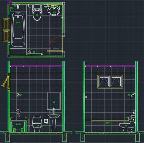 Pin On Bathroom Design Dwg