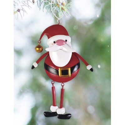 The Holiday Aisle Set Of 2 Santa Hanging Figurine Ornament Christmas Decorations Ornaments Candy Cane Christmas Tree Stained Glass Ornaments