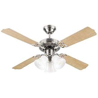 Westinghouse 7842065 Crusader 42 Inch Ceiling Fan Brushed Nickel Finish Ceiling Fan Ceiling Fan Light Kit Fan