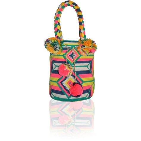 Purchase of this item provides 3people water for 7 days. Each PUTCHIPUU Bag is handmade by the women of the WAYUU Tribe located in the northern peninsula of Colombia in a rural area called La Guajira. Eachdesign is up to the women making the bag which makes each PUTCHIPUU bag unique and one of a kind. PUTCHIPUU bags