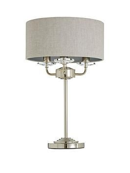 Mika Traditional 3 Light Table Lamp Light Table Table Lamp Grey Table Lamps