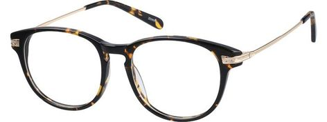 #788925. Visit Zenni Optical today to browse our collection of glasses and sunglasses. #Order #online, #unisex Order online, unisex tortoiseshell full rim mixed materials round eyeglass frames model