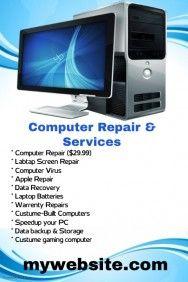 computer services flyer