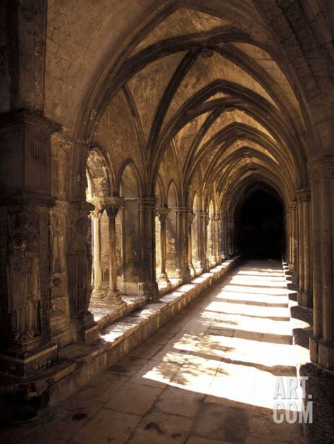 Photographic Print: Cloister Detail, Arles Poster by Walter Bibikow : Harry Potter Aesthetic, Slytherin Aesthetic, Gothic Architecture, Beautiful Architecture, Minimalist Architecture, Hogwarts, Chapelle, Kirchen, Abandoned Places