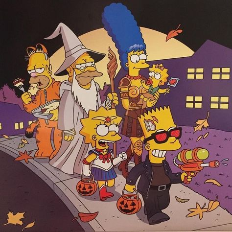 The Simpsons, Simpsons Characters, Simpson Wallpaper Iphone, Cartoon Wallpaper, Futurama, Bart E Lisa, Simpsons Halloween, Halloween Cartoons, Funny Wallpapers