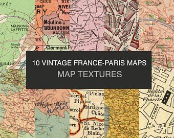 Old Map Of Paris Digital Download Antique Paris Map Paris Print