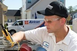 Airtron Tech At Work Air Conditioner Repair Heating And Air