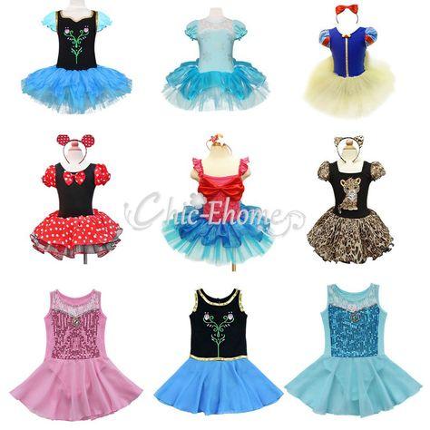 2pcs Kids Girls Minnie Mouse Ballet Princess Dress Party Costume Tutu Skirt