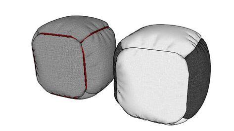 Awe Inspiring Large Preview Of 3D Model Of Beanbags In 2019 Sketchup Inzonedesignstudio Interior Chair Design Inzonedesignstudiocom