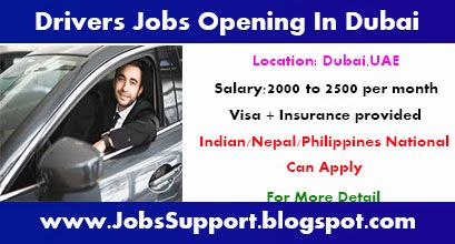 Drivers Jobs Opening In Dubai Indian Nepal Philippines National