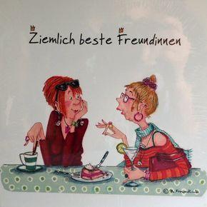 Holzbild - Barbara Freundlieb - ZIEMLICH BESTE FREUNDINNEN (Edition 2017) - Deko Unlimited - Exklusive Geschenke & Dekoration, 19,95 €