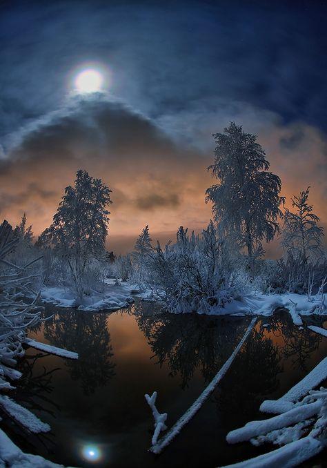 Winter Landscape - HDR cream photo by optimist