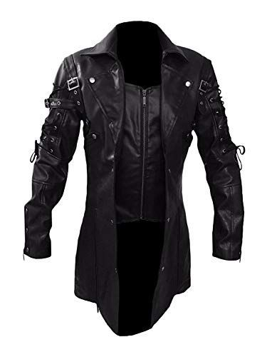 Looking for Steampunk Black Renaissance Punk Faux Leather Victorian Gothic Coat ? Check out our picks for the Steampunk Black Renaissance Punk Faux Leather Victorian Gothic Coat from the popular stores - all in one.