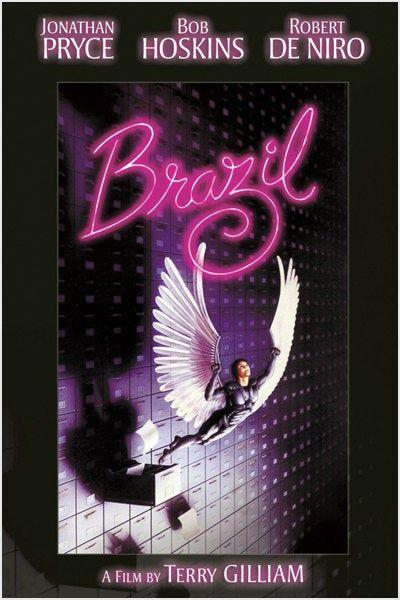 Vintage Movie Brazil Terry Gillam Robert De Niro Rare New Hot – Poster - Canvas Print - Wooden Hanging Scroll Frame