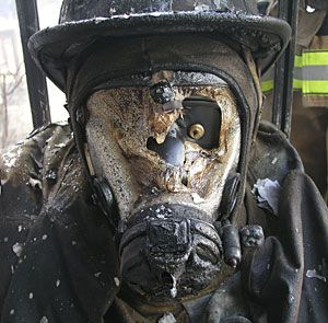 Don't stand in a fire. The SCBA facepiece lens is often considered the weakest component of a fire fighter's ensemble in high heat conditions.