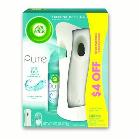 Air Wick Freshmatic Ultra Automatic Air Freshener Fills Your Home With Continuous Fresh Fragrance Each Refill Provides Co In 2020 Air Wick Air Freshener Ocean Breeze