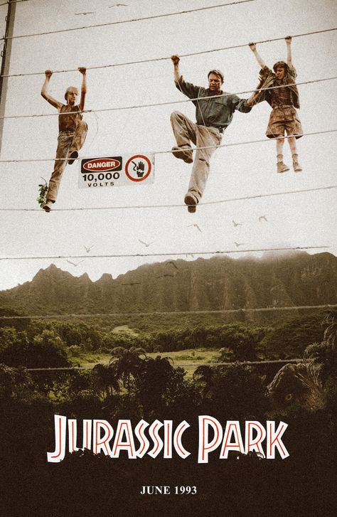 """Come on guys... It's not a race."" - Jurassic Park Alternate Movie Poster, Nima Neemz Nakhshab"