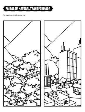 Desenho Paisagem Natural Transformada Com Imagens Avaliacao De