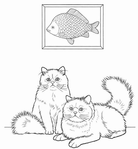 Persian Cat Coloring Pages For Adults from Adult Coloring Pages category. Find out more cool printable coloring for your children #coloringpages #coloringbook #printable #coloriage #kleurplaten