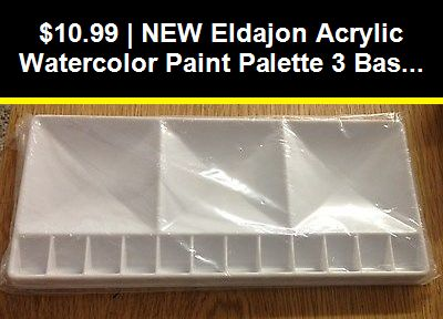 Clear Jack Richeson Plastic Acrylic Palette 11 X 14 in