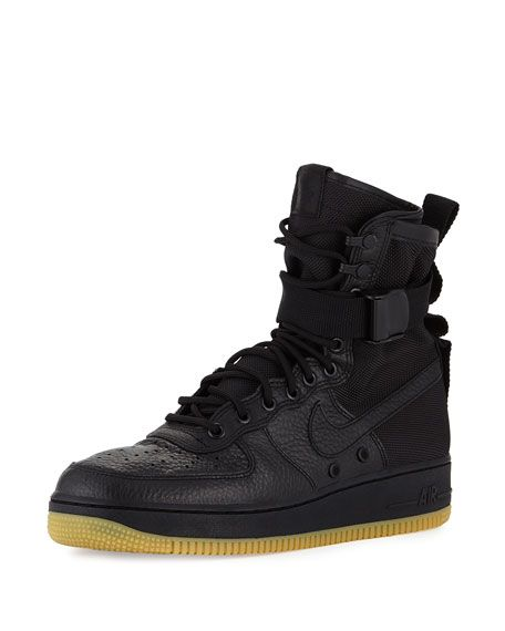 buying cheap buy best available Men's AF1 Leather High-Top Sneaker Black | เสื้อผ้า | Nike ...