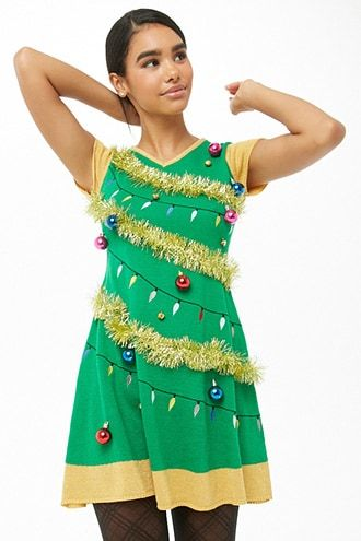 Christmas Tree Mini Dress Forever 21 Mini Dress Beautiful Outfits Outfits For Teens