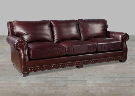 Leather Chesterfied Style With Nailheads Leather Sofa Sofa Living Room Furniture