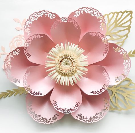 Pin On 3d Paper Flower Template