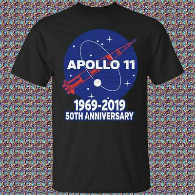 50th Anniversary Apollo 11 1969-2019 Signatures T-Shirt Black Unisex Tee S-6XL