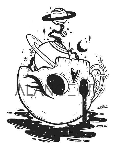 Trippy Drawings, Dark Art Drawings, Pencil Art Drawings, Art Drawings Sketches, Doodle Drawings, Tattoo Drawings Tumblr, Tattoo Sketches, Lowbrow Art, Skull Art