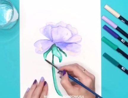 Apprenez A L Aquarelle Avec Les Stylos Pinceaux Tombow Darbysmart