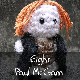 Dr Who - Eighth Doctor by Nyss Parkes (These mini Doctors do come in one single download, but they simply must be represented individually!) Free Pattern: http://www.ravelry.com/download/146980/free  #TheCrochetLounge #DrWho Collection