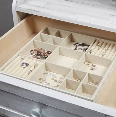 10 Jewelry Drawer Organizers To Untangle Your Jewels When I Shop Jewelry Tray Organizer Jewelry Drawer Organize Drawers