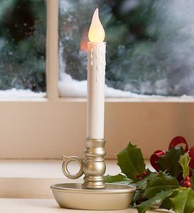 Battery Operated Cordless Classic Candlestick With Auto Timer Candlesticks Window Candles Candles